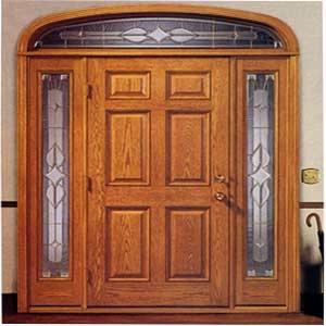 Arch Door u0026 Side Screens OAK HALL DOOR & HALL DOORS u0026 SCREENS